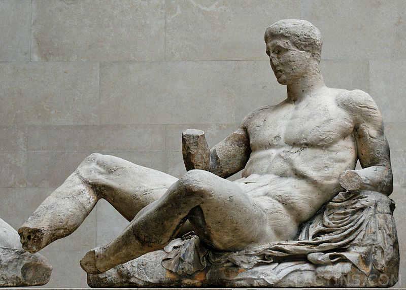 Dionysos Pediment Parthenon Statue
