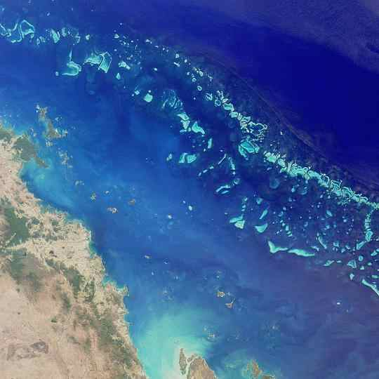 GreatBarrierReef from outer space