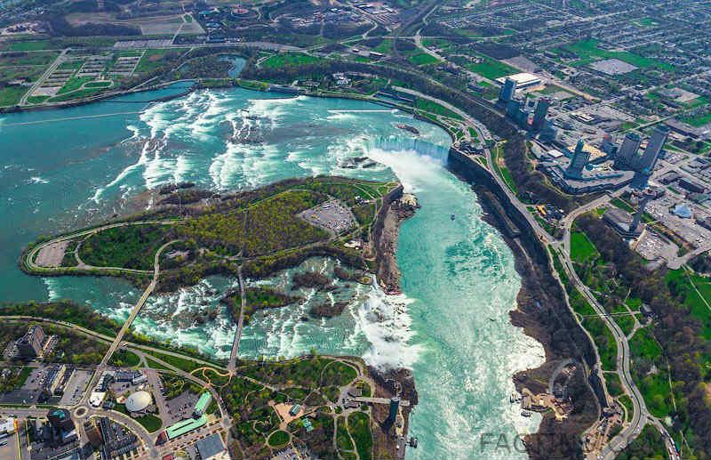 Niagara Falls from Top View