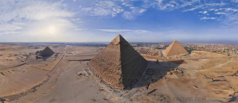 Helicopter View of Pyramid