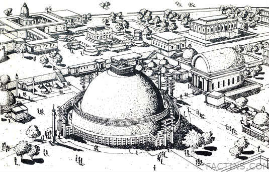 Sanchi Stupa - Plan - great stupa at sanchi