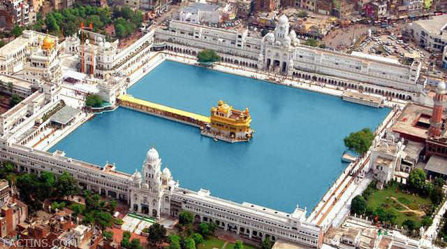 Golden Temple Aerial View from Helicopter