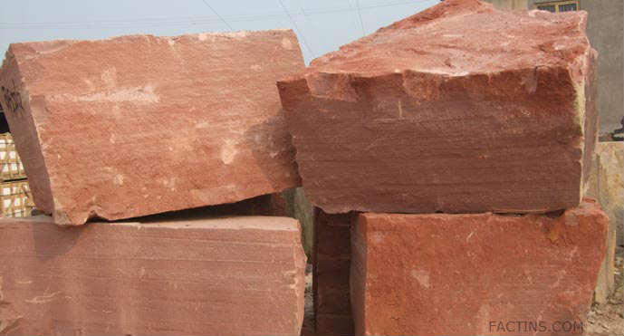 Red Sandstone Block at Agra Fort