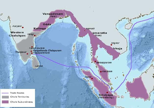 Rajendra Chola 1 - Ruled Areas - - Facts about Rajendra Cholan 1 - Factins
