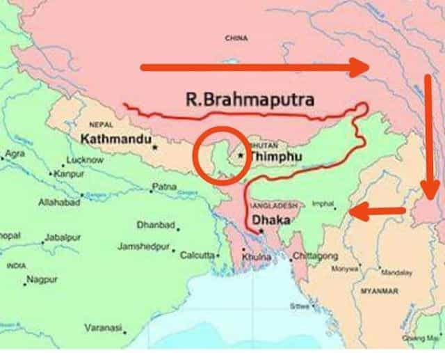 Brahmaputra River Facts And Information Factins - World big river map