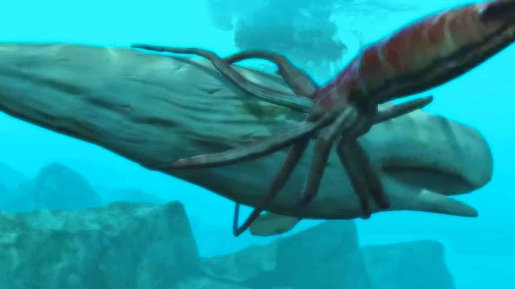 Giant Squid Hunting Whale - interesting facts giant squid - Factins