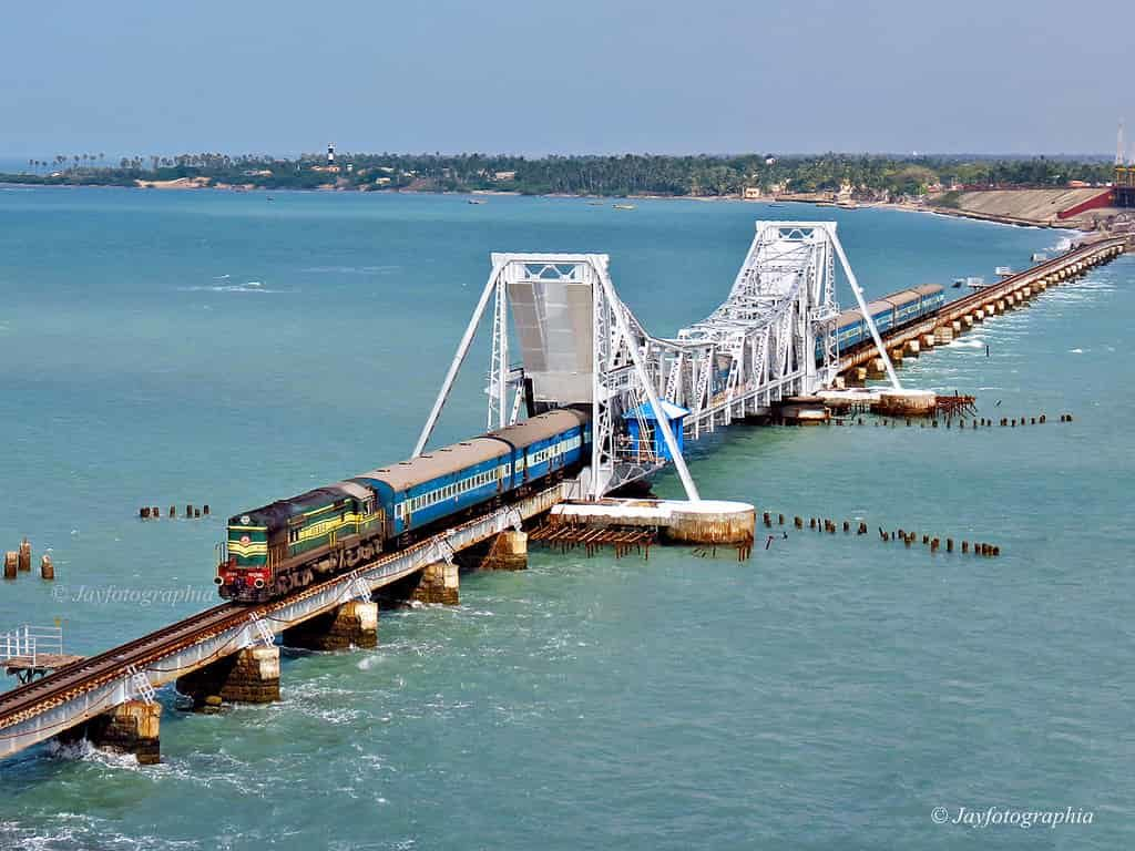 Pamban rail bridge View - Factins