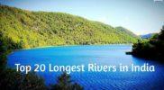 Top 20 Longest Rivers in India