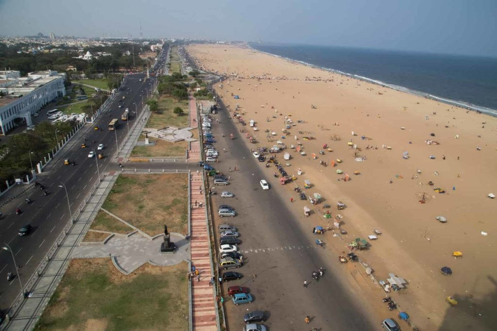 Marina Beach - Tourist Places in Tamilnadu - Factins