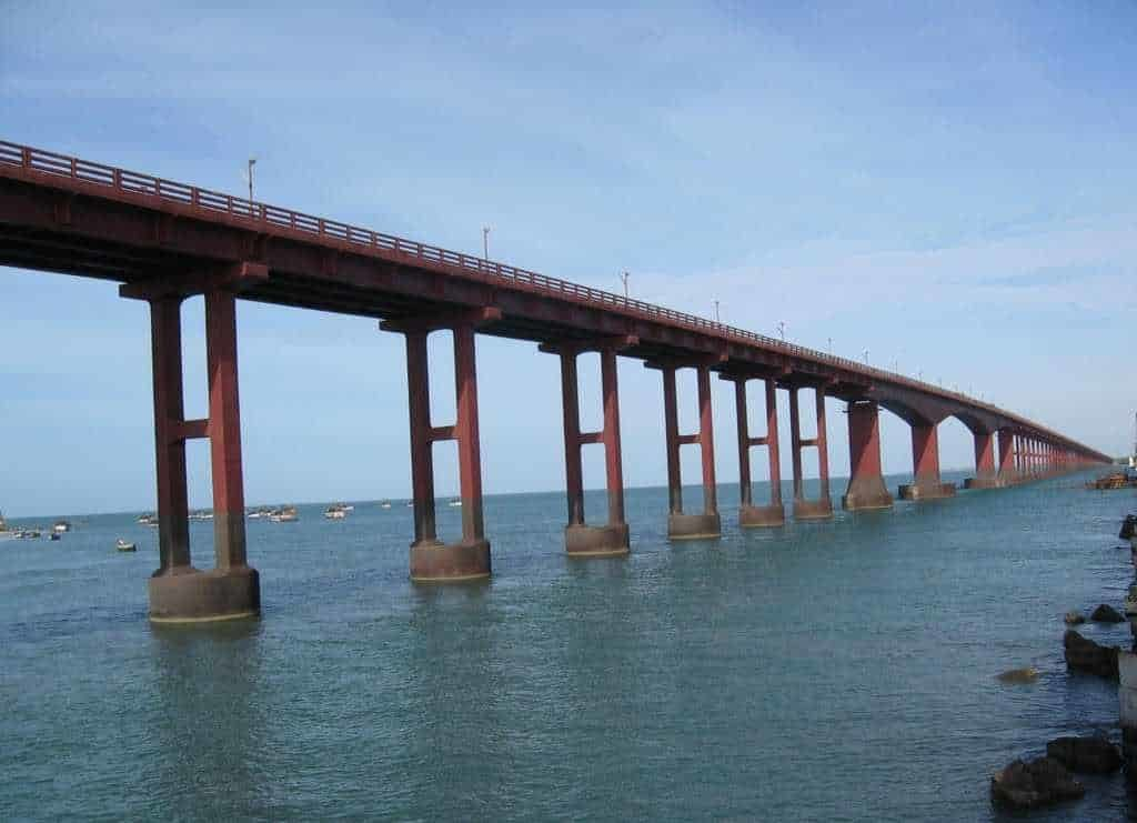 Pamban Bridge - Best Tourist Places in tamilnadu - Factins