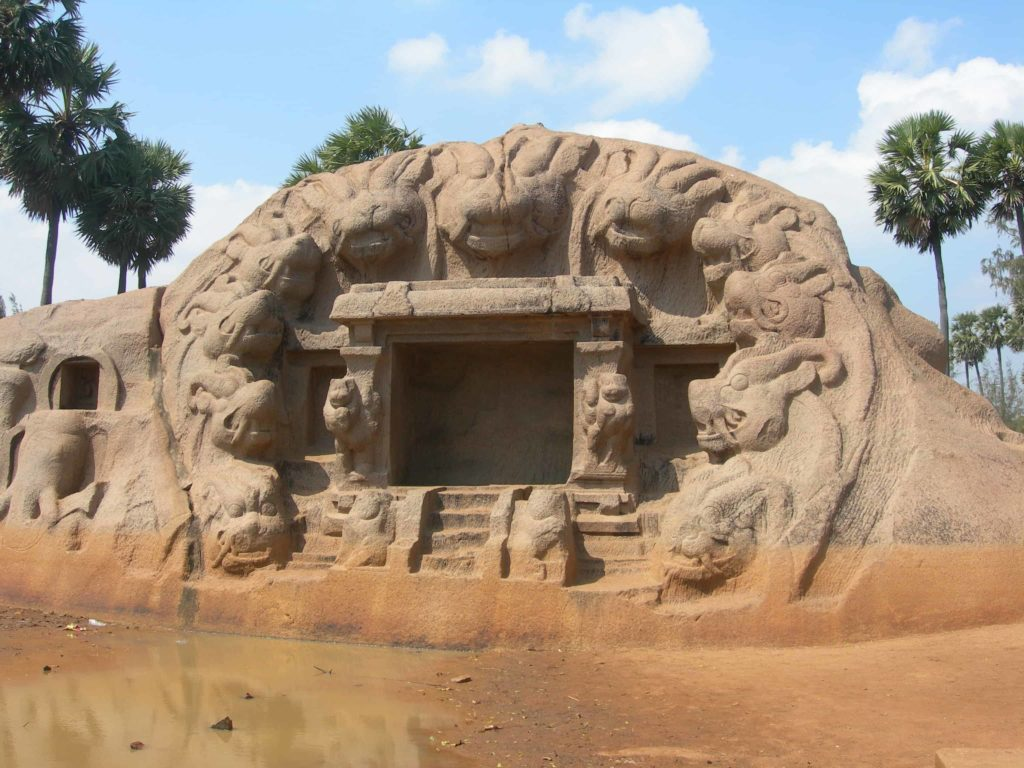 tiger cave mamallapuram - group of monuments at mahabalipuram - factins